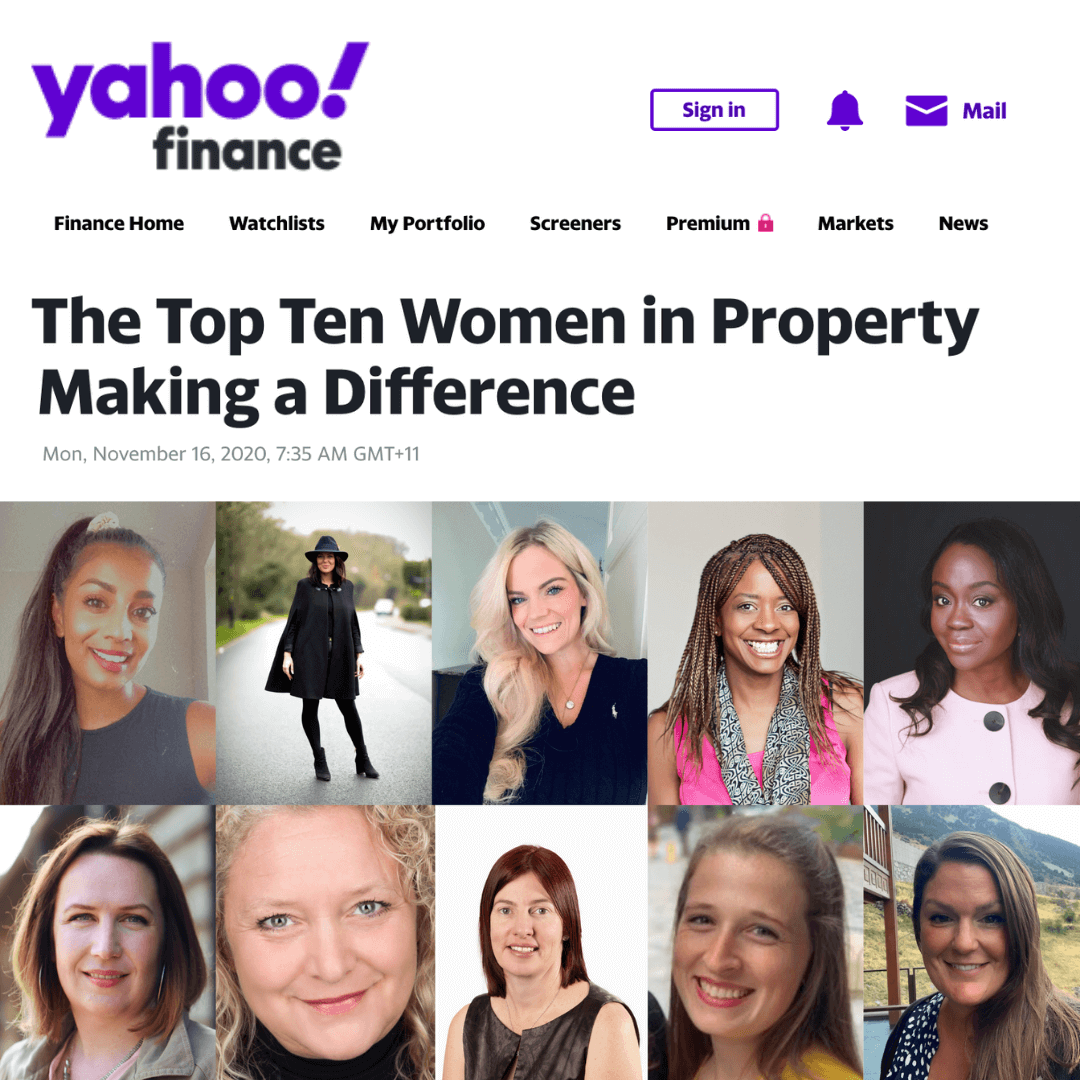 Yahoo's The Top Ten Women in Property Making a Difference